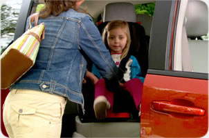 Child seat available on Sorrento Car Rent fleet