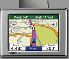Garmin Nuvi GPS on Sorrento Car Rent fleet
